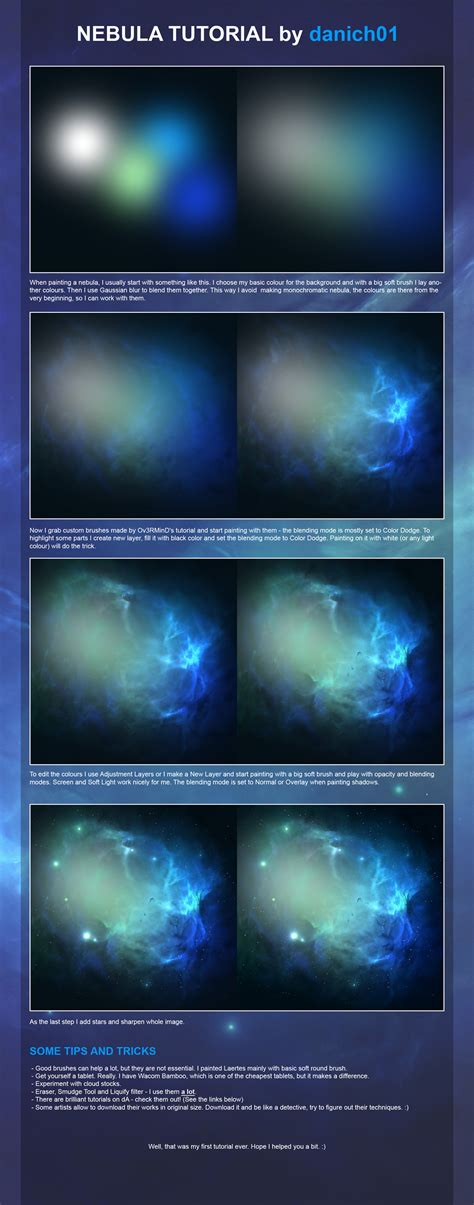 tutorial photoshop galaxy nebula tutorial by danich01 on deviantart