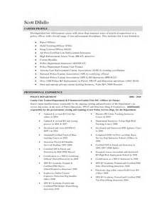 officer resume free officer resume