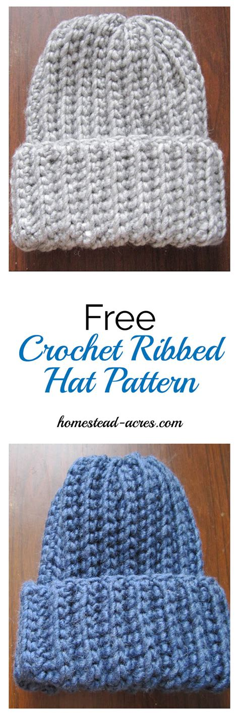 pattern finder crochet crochet ribbed hat pattern homestead acres