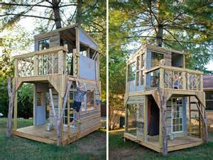 Backyard Clubhouses A Tree House That Can Be Your Second House Or Lovely Home