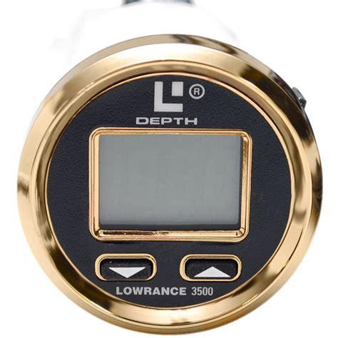 digital depth gauge for boats lowrance 3500 black face gold bezel digital automatic