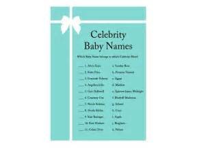 celebrity baby names baby shower ideas themes games