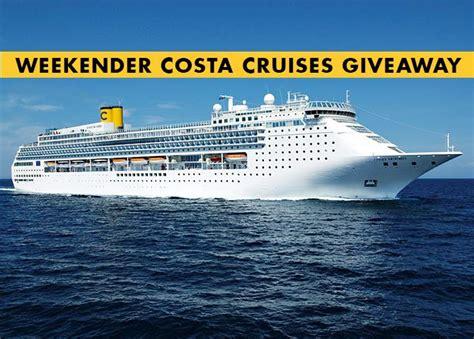 Cruise Sweepstakes 2014 - ship ahoy weekender costa cruise giveaway weekender