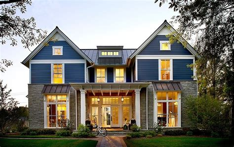 modern traditional home design with many