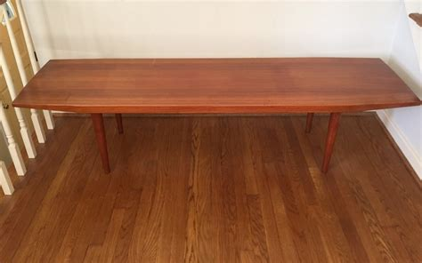 danish modern coffee table mid century danish modern solid teak coffee table epoch