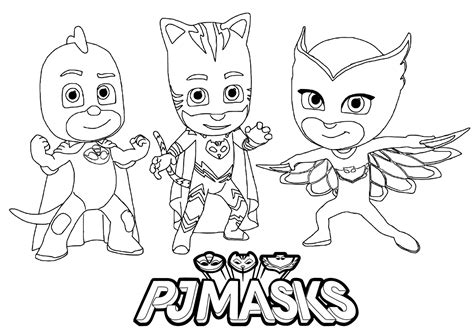 free childrens coloring pages pj masks to for free pj masks coloring pages