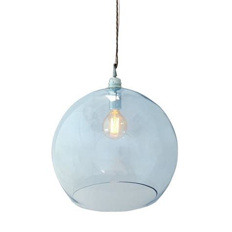 Glass Ceiling Lights Pendant by Mouthblown Globe Topaz Blue Glass Pendant Lighting And