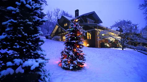 christmas tree with house wallpaper merry joyeux noel frohe weihnachten feliz navidad alegre lystig jul