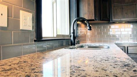 Kitchen With Glass Backsplash kitchen backsplash and master bathroom using porcelain and