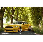 Ford Mustang 2015 Stance Yellow Tuning Front Wheels