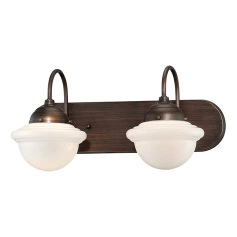 Industrial Bathroom Vanity Lighting Shop Millennium Lighting 2 Light Neo Industrial Rubbed Bronze Standard Bathroom Vanity Light At