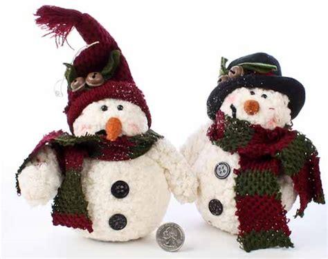 decorative wooly snowman set of 2