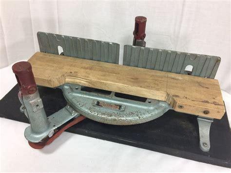 vtg stanley  adjustable miter mitre box antique cast