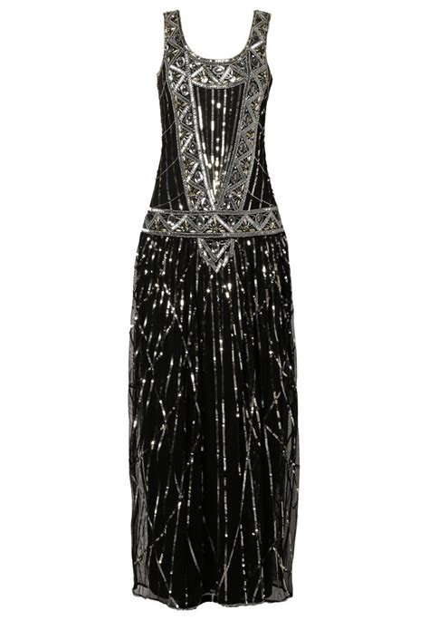 1920s evening dresses frock and frill maxi dress black