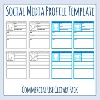 Social Media Profile Templates Clip Art For Commercial Use By Hidesy S Clipart Social Media Profile Template