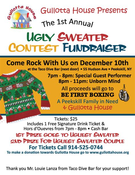 Ugly Sweater Contest Flyer Sweater Flyer Template