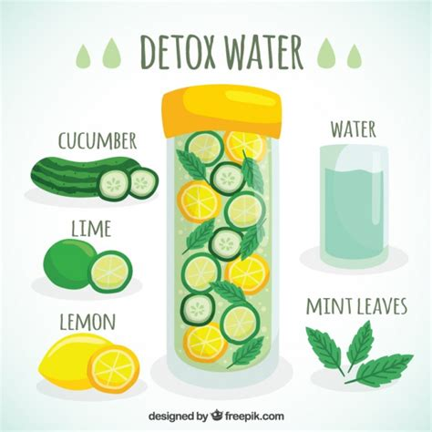 How Can I Detox My Naturally At Home by Detox Water Vector Free