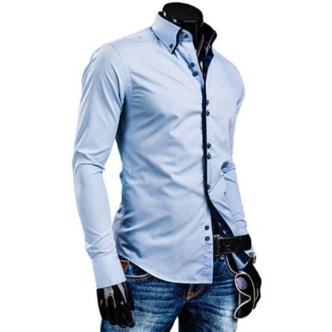 Samase Kemeja Koko Pria 2 fashion hit color placket buttons design shirt collar