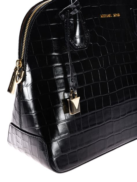 Tas Michael Kors Original Mk Mercer Tote Croco Acorn mercer croco print black handbag by michael kors bowling bags ikrix