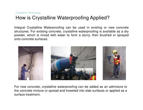 Forma Aqua Brush Save Time Save Water N Save Energy integral crystalline waterproofing technology