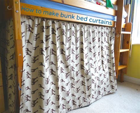 How To Make Bunk Bed Curtains