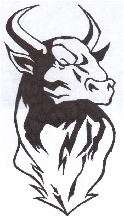 tattoo stencil designs bull tattoos