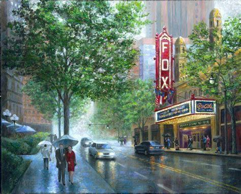 Fox Theater Gift Cards - atlanta landmark the fox theater hand embellished giclee by bobby strickland ebay