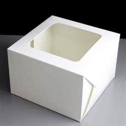 50 folding window cake boxes 8 x 8 x 5 - Cake Boxes With Window