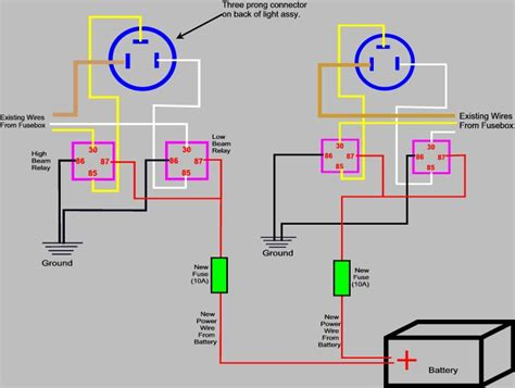 h4 headlight relay wiring diagram h4 connector diagram