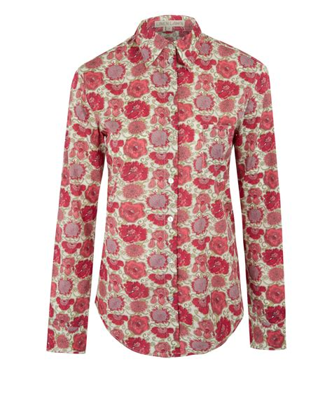 liberty mutual woman red sweater liberty women s red lucy daisy bryony cotton shirt in red