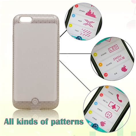pattern smart words diy bluetooth 4 0 smart pattern words led phone protective
