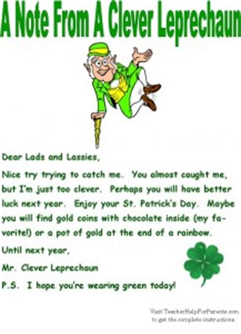 free printable letters from leprechaun leprechaun traps letter from a leprechaun all the things