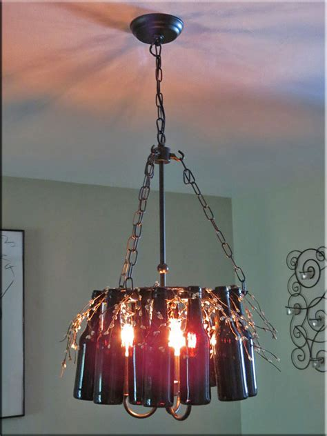 Diy Bottle Chandelier Bottle Chandelier How To Make A Bottle L