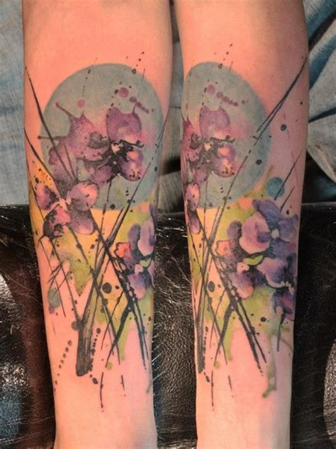 watercolor tattoo violets watercolor gallery artists