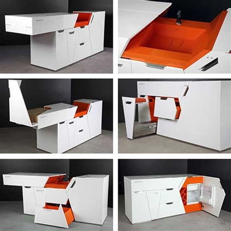 22 fully functional space saving kitchen furniture designs