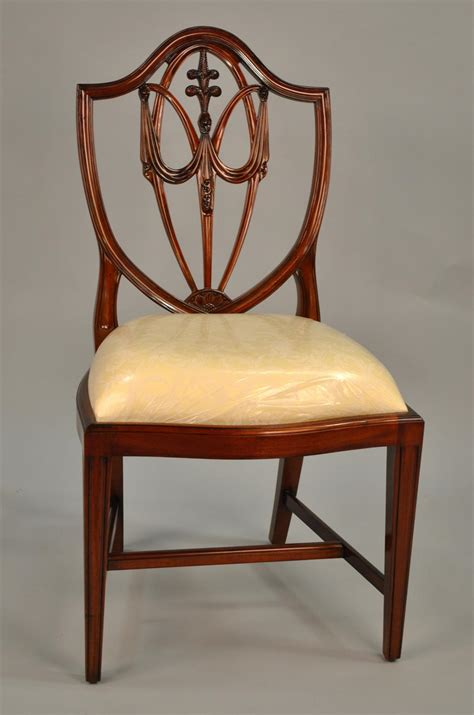 shield back dining room chairs mahogany shield back dining chairs fleur de lis shield back ebay