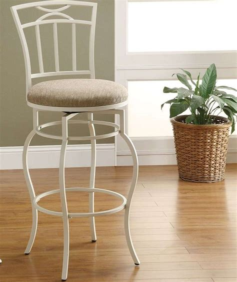 Metal And Fabric Bar Stools by Coaster 122049 Swivel Metal And Beige Fabric Bar Stool