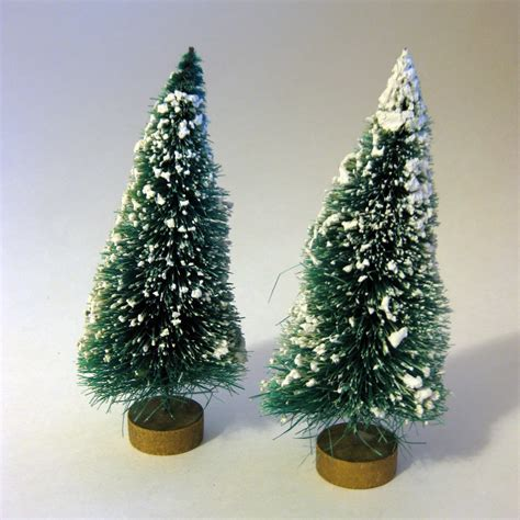 gold base bittle brush trees vintage flocked bottle brush trees with gold base ornament from openslate on ruby