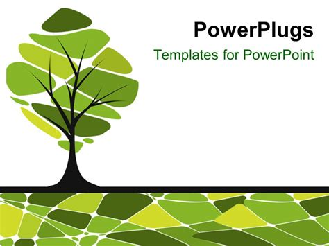 Powerpoint Template Vector Card Design With Stylized Trees 14903 Powerplugs Powerpoint Templates