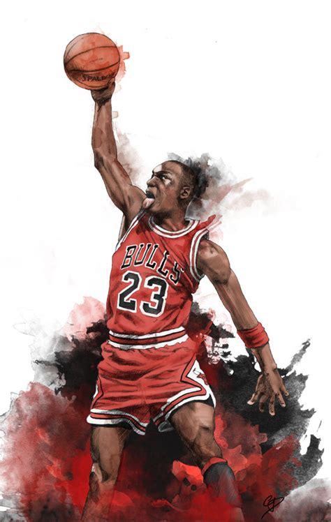 Famouse Mba Players Before Michael by Michael Illustrated Wall Poster