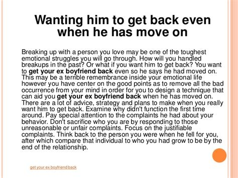 get your ex back how to get your ex back books get your ex boyfriend back