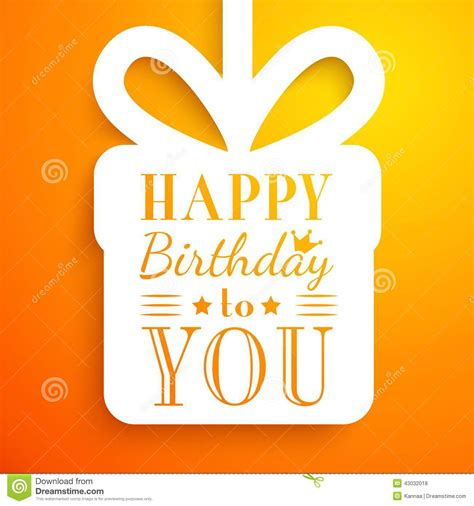 typography gifts happy birthday card typography letters font type stock vector illustration of border paper