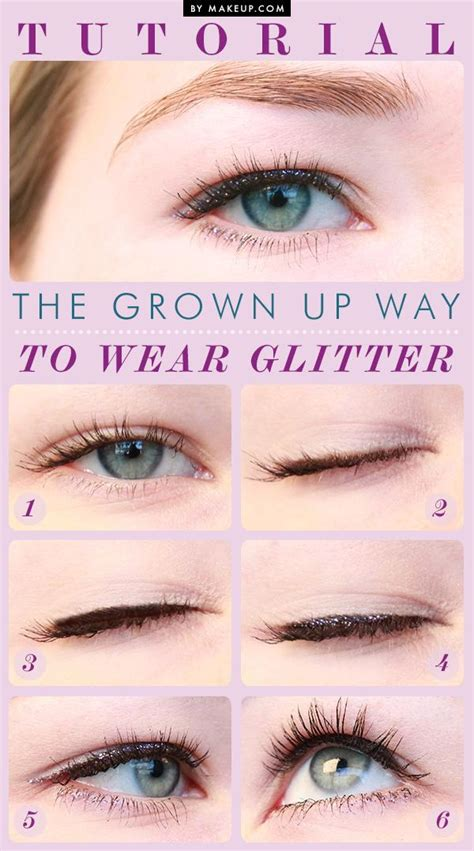 tutorial on eyeliner application tuesday tutorial the grown up way to wear glitter weddbook