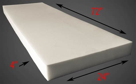 thick sheets galleon foam sheet 4 quot thick 24 quot wide x 72 quot long medium