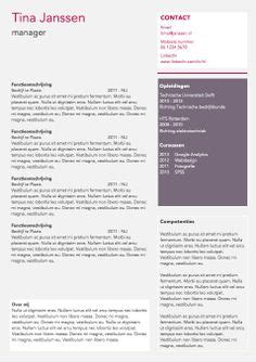 Sjabloon Functioneel Cv Word Cv Sjabloon Ms Word Cv Sjablonen Lifebrander Words
