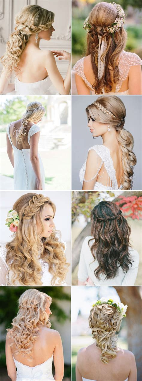 hairstyles left down 16 gorgeous half up half down hairstyles for brides