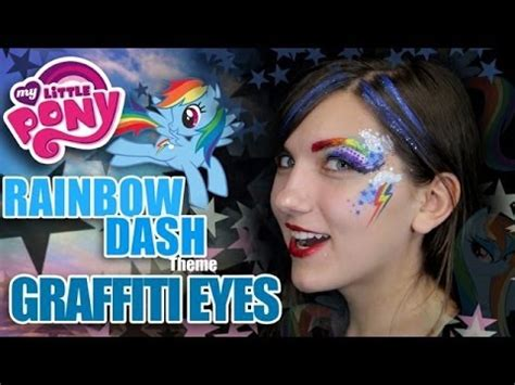 rainbow dash graffiti eyes fun face painting makeup