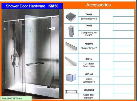 Tempered Glass Km shower door hinges glass door hinges glass shower door