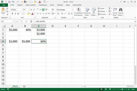 format excel percentage how to write percentage formulas in excel with pictures