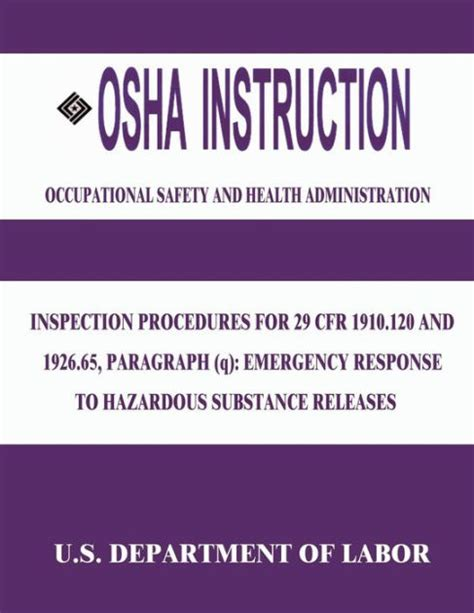 29 cfr 1910 section 120 osha instruction inspection procedures for 29 cfr 1910